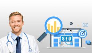 médico com uma imagem de SEO
